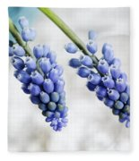 Grape Hyacinth Fleece Blanket