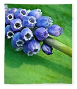 Grape Hyacinth Spike  Fleece Blanket