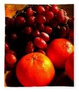 Grapes And Tangerines Fleece Blanket