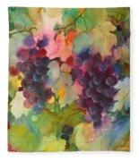 Grapes In Light Fleece Blanket