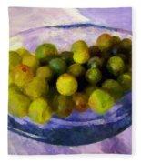 Grapes On The Half Shell Fleece Blanket