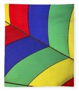 Graphic Hot Air Balloon Detail Fleece Blanket