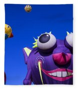 Graphic Hot Air Balloons Fleece Blanket