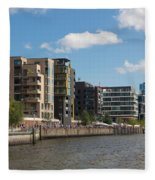 Grasbrookhafen Hamburg Hafencity Fleece Blanket