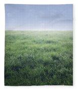 Grass And Sky  Fleece Blanket