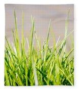Grass Blades Fleece Blanket
