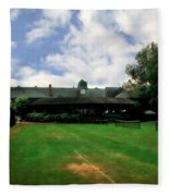 Grass Courts At The Hall Of Fame Fleece Blanket