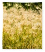Grass Feathers Fleece Blanket