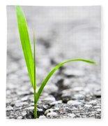 Grass In Asphalt Fleece Blanket