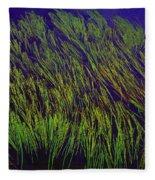 Grass In The Lake Fleece Blanket