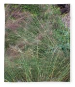Grass In The Wind Fleece Blanket