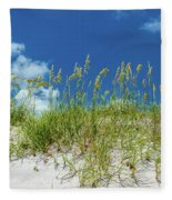 Grass On The Beach, Bill Baggs Cape Fleece Blanket