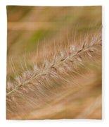 Grass Seed Head Fleece Blanket