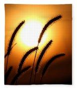 Grasses At Sunset - 2 Fleece Blanket
