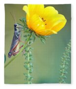 Grasshopper Be Still Fleece Blanket