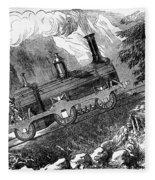 Grassi Locomotive, 1857 Fleece Blanket
