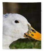 Grassy-bill Duck Fleece Blanket