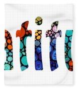 Gratitude 1 - Inspirational Art Fleece Blanket