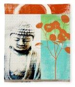 Gratitude Card- Zen Buddha Fleece Blanket