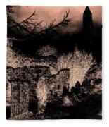 Graveyard At Night Fleece Blanket