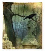 Graveyard Cross Fleece Blanket