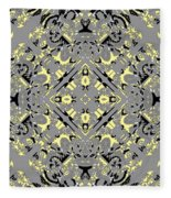 Gray And Yellow No. 1 Fleece Blanket