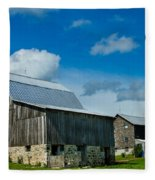 Gray Barn Fleece Blanket