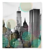 Gray City Beams Fleece Blanket
