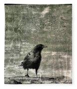 Abstract Gray Fleece Blanket