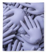 Gray Hands Fleece Blanket