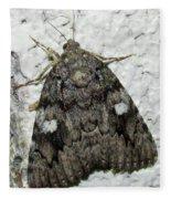 Gray Owlet Moth Fleece Blanket