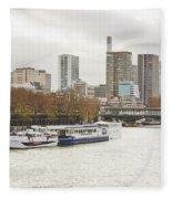 Gray Side Of Paris Fleece Blanket
