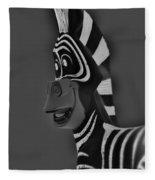 Gray Zebra Fleece Blanket