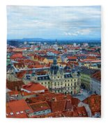 Graz Old Town Fleece Blanket