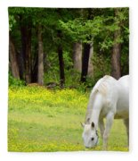 Grazing In Golden Fields Fleece Blanket