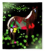 Grazing In The Grass - Featured In Visions Of The Night Group Fleece Blanket