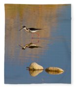 Grazing Stilts Fleece Blanket