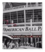 Great American Ball Park And The Cincinnati Reds Fleece Blanket