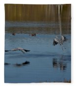 Great Blue Dance Fleece Blanket