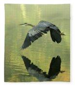 Great Blue Fly-by Fleece Blanket