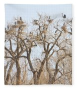 Great Blue Heron Colony Fleece Blanket
