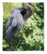 Great Blue Heron IIi Fleece Blanket