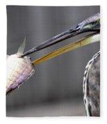 Great Blue Heron - Just Fred Fleece Blanket