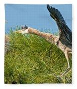 Great Blue Herons Fleece Blanket