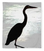 Great Blue Herons Nightside Fleece Blanket
