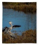 Great Blue Landing Fleece Blanket