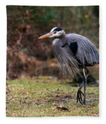 Great Blue On The Clinch River IIi Fleece Blanket