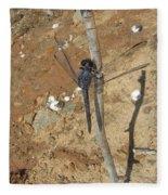 Slaty Skimmer Dragonfly Shadow Fleece Blanket