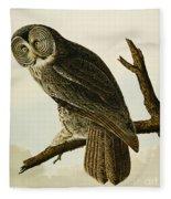 Great Cinereous Owl Fleece Blanket