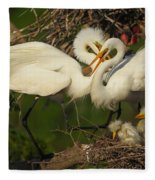 Great Egret 2am-7177 Fleece Blanket